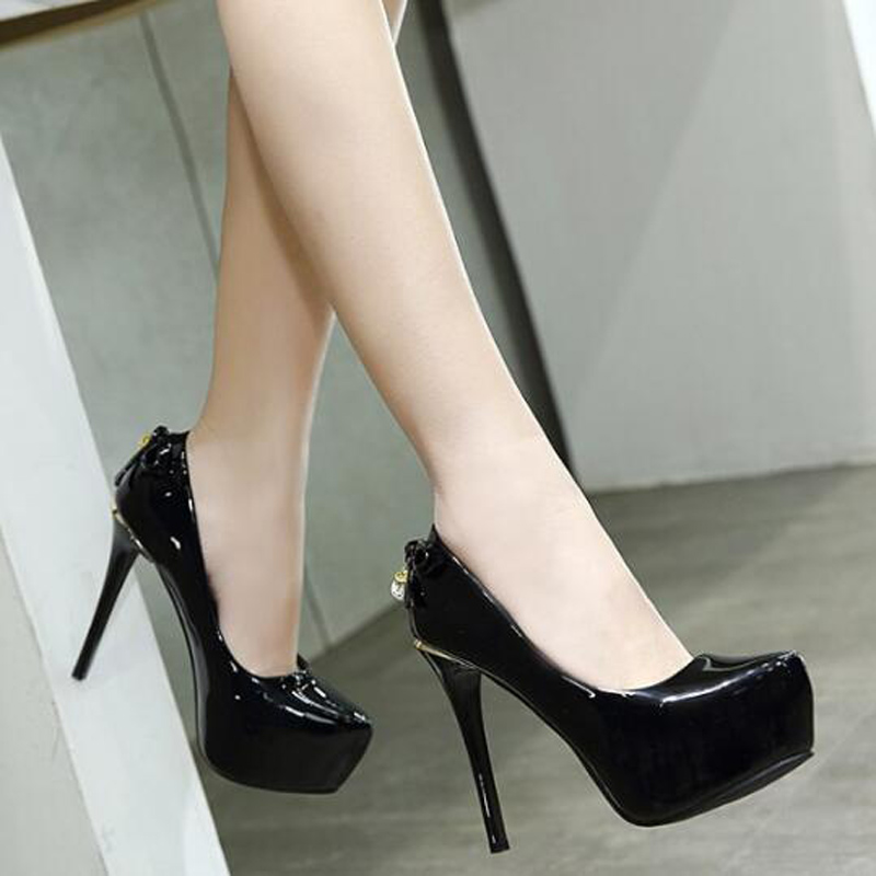 Low Pumps Rhinestone Shoes Platform Heels Pink Bridal
