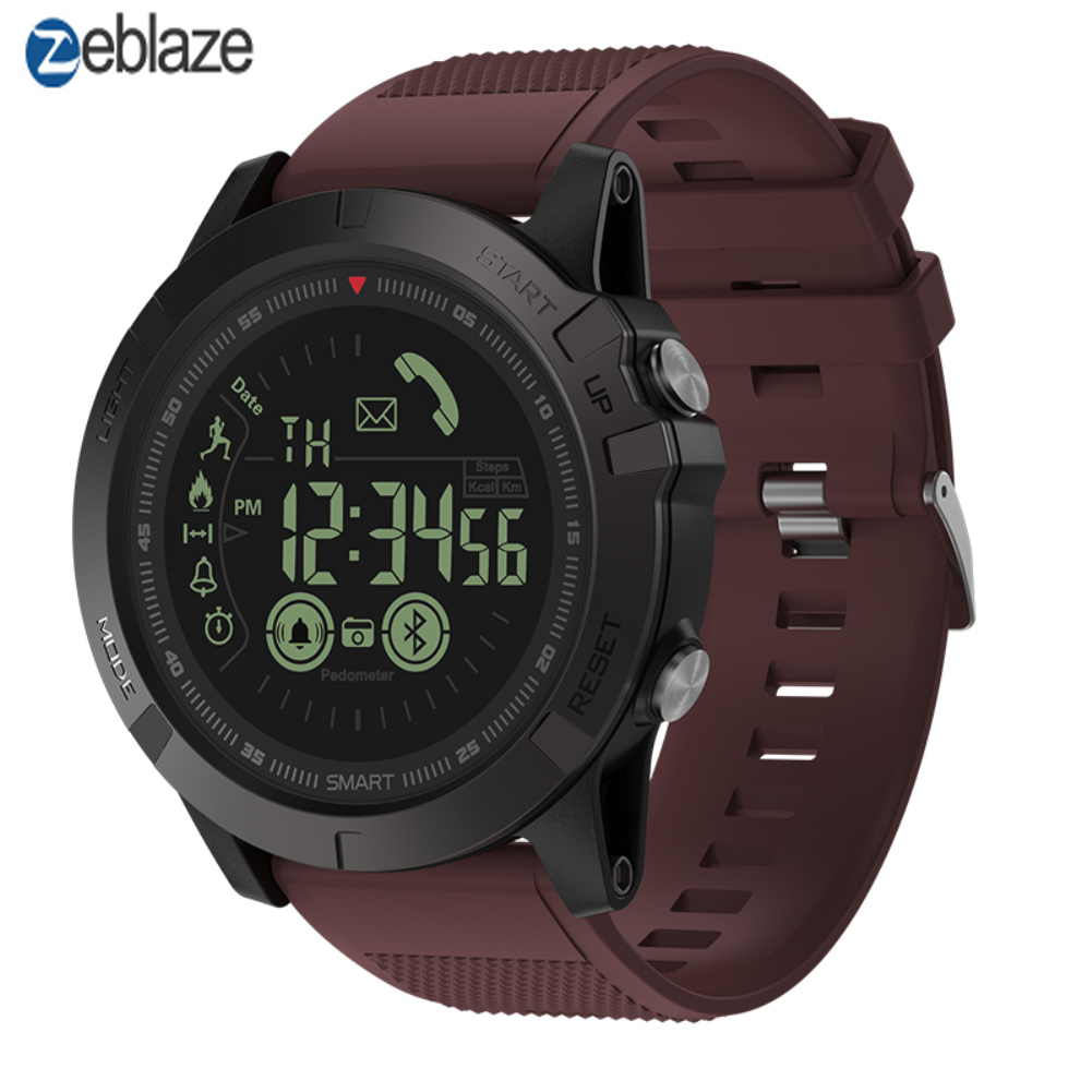 Zeblaze VIBE 3 T1 Tact Flagship Rugged Smartwatch 33-month Standby Time 24h All-Weather Monitoring Smart Watch For IOS Android