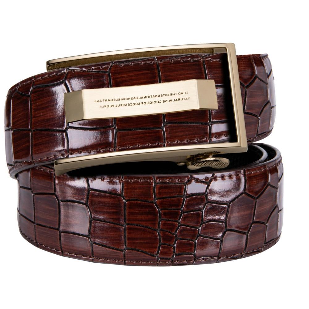 Barry.Wang Fashion Belt New Automatic Buckle Men Belts Fashion Business Belt Famous Brand Luxury Belts For Men Leather DK-2036