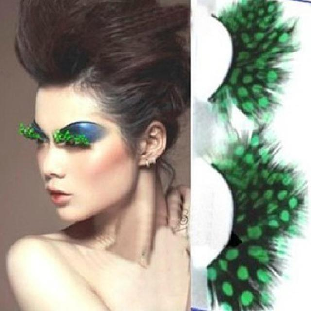 70848299070 1 pair Colorful False eyelashes feather exaggeration ballet masquerade /  party feather eyelashes special art Beauty Lashes MY233