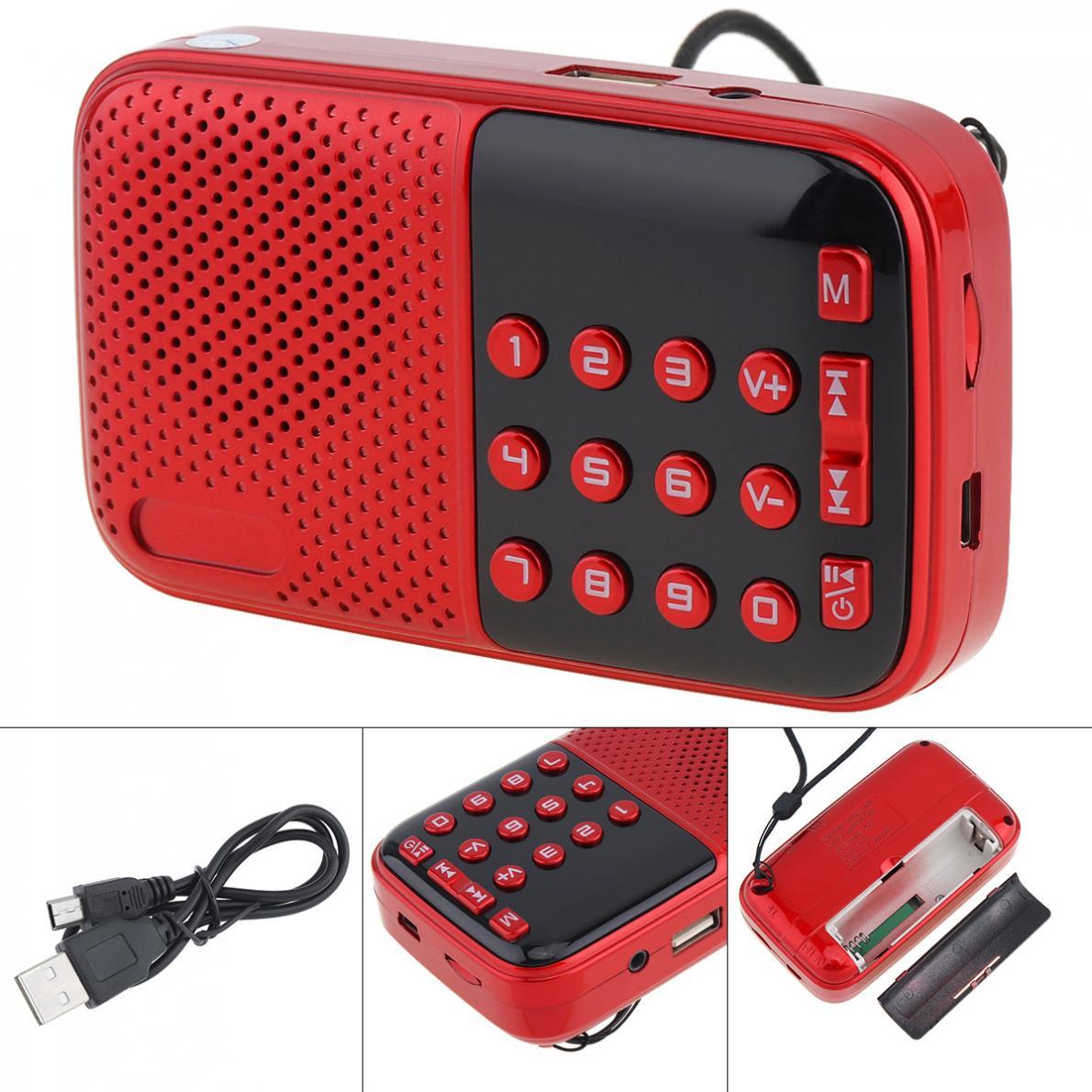 V8 Tragbare Radio Mini Audio Karte Lautsprecher Fm Radio Mit 3,5mm Kopfhörer Jack Für Home/outdoor Grade Produkte Nach QualitäT Unterhaltungselektronik Tragbares Audio & Video