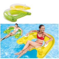 Inflatable Floating Chair Lounge 152x99cm Pool Floats Floating Sleeping Chair Beach Air Mattress for Swimming Water Sports Party