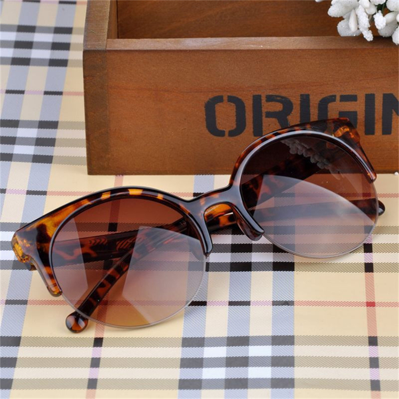 a2d91d053f2b1 2018 NEW WOMEN BRAND Designer Vintage Sunglasses Woman Semi Endless Retro  Sunglasses Round Oculos De Sol Gafas Mujer-in Sunglasses from Apparel  Accessories ...