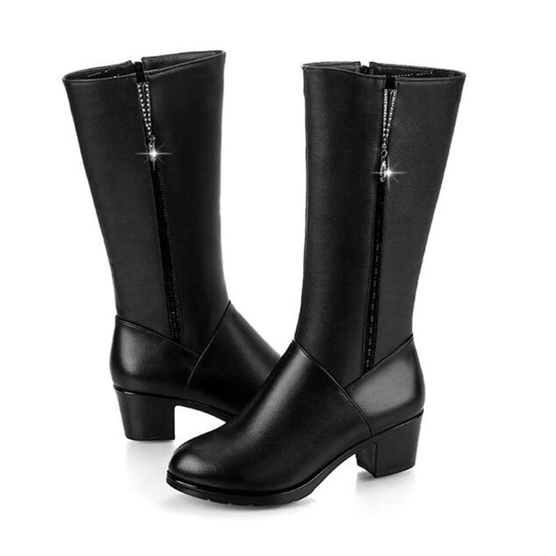 Cuisse Chaud Femme Fourrure En Black Genou Souple Noir D'hiver Cuir Dames Bottes Chaussures Sex De appeal Hautes Mode Zip D836 Haute Femmes AwvOTqS