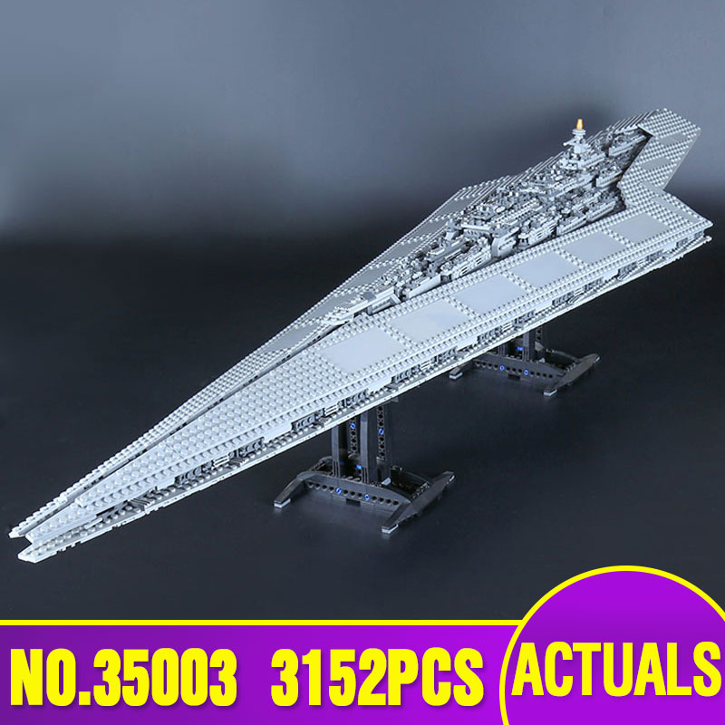 Lepin 35003 Star  Educational Toys Building Blocks toy Wars Execytor Destroyer Model Block Brick Compatible 10221 lepin 22001 pirate ship imperial warships model building block briks toys gift 1717pcs compatible legoed 10210