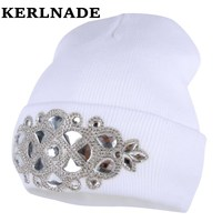 new fashion winter hat for women girl 's wool hat knitted cotton beanies cap brand new thick female hats
