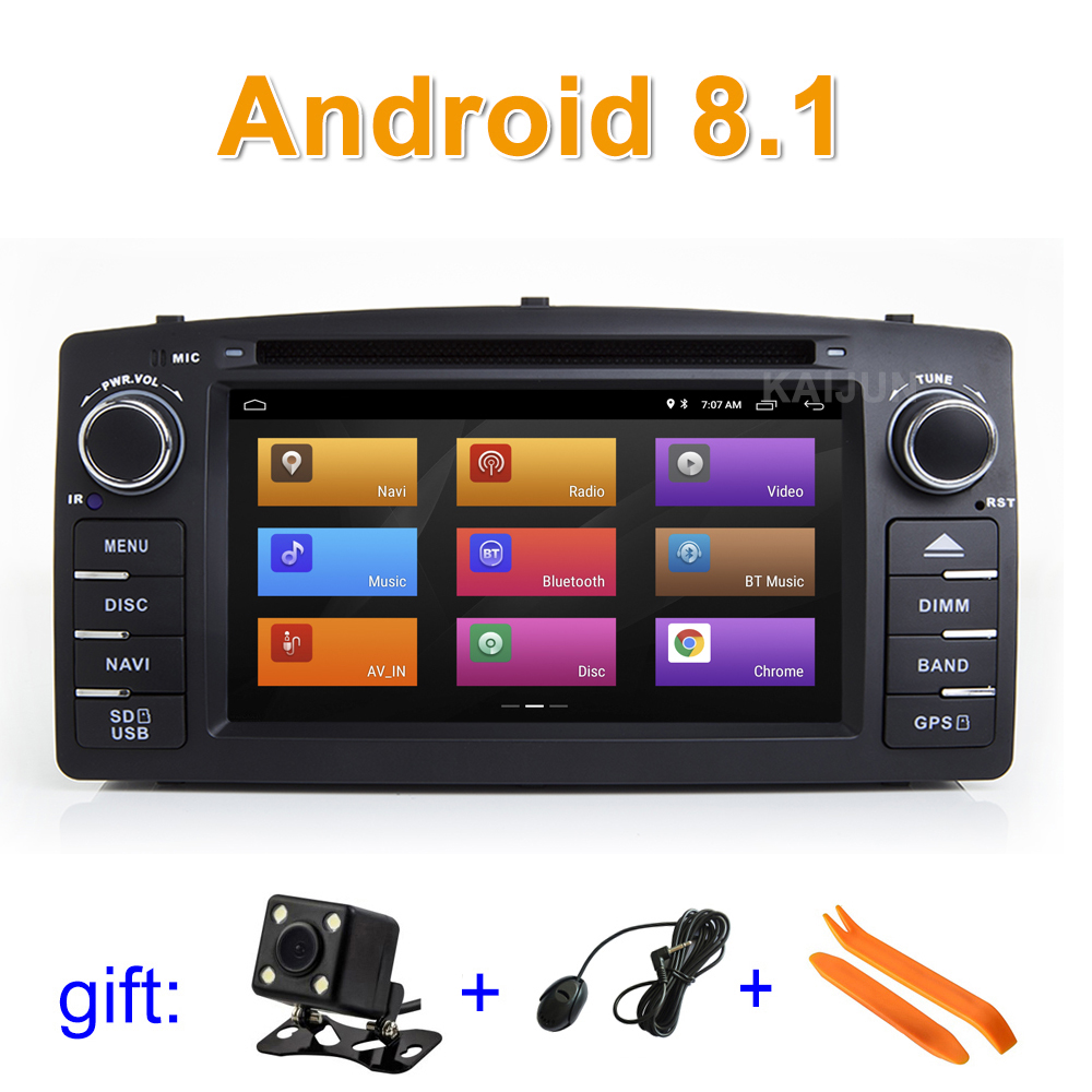 Android 8,1 DVD мультимедиа плеер для Toyota Corolla E120 BYD F3 с wifi BT gps Радио стерео