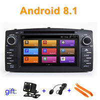 Android 8.1 Car DVD Multimedia Player for Toyota Corolla E120 BYD F3 with wifi BT GPS Radio stereo