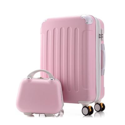 Дорожный Чехол для чемодана на колесиках 20 дюймов, чехол на колесиках, женский косметический чехол, сумка для переноски, дорожные сумки - Цвет: set
