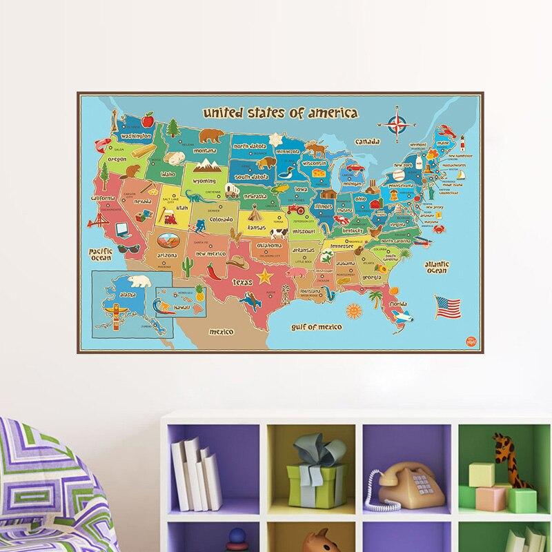 Us American Map Globalinterco - Us map redrawn background