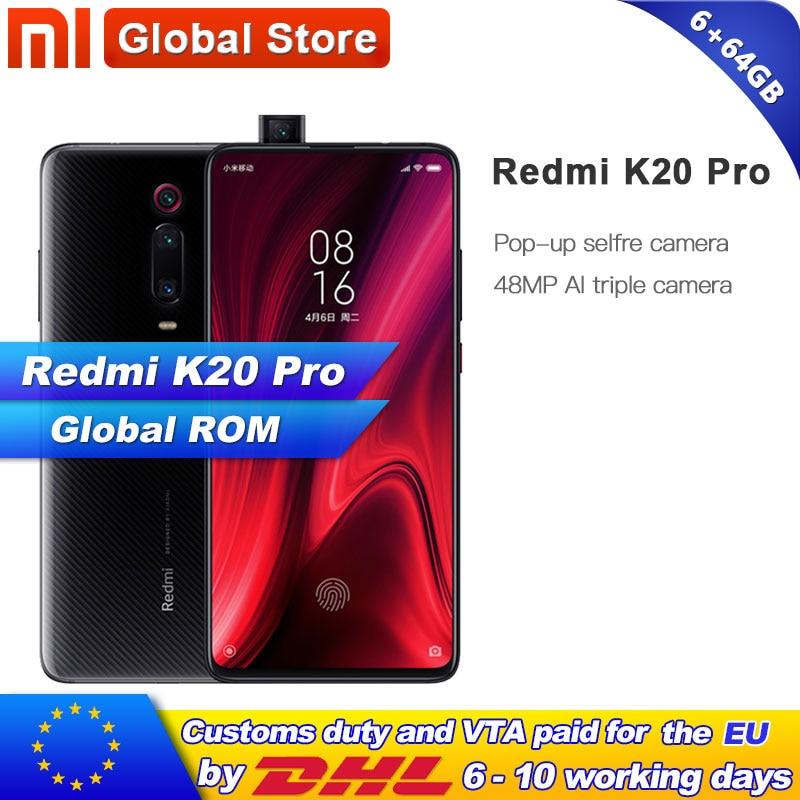 Global ROM Xiaomi Redmi K20 Pro 64GB ROM 6GB RAM Phone Octa Core Snapdragon 855 4000mAh