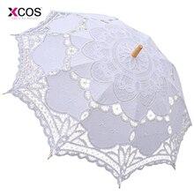 Кружевной ручной зонтик для невесты зонтик аксессуары для свадьбы свадебный зонтик для душа