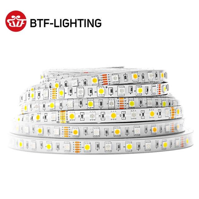5m 60led/M 300 leds SMD 5050 Mixed Color RGBW RGB + (Warm/Cool White) RGBWW RGBCW LED Strip 5pin DC12V IP30/IP65/IP67