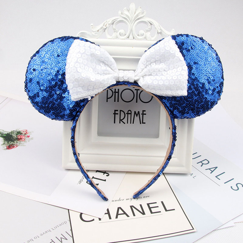 Headwear Hairband Sequin Bow Headband for Girls Minnie Mouse Ears Hairbands Birthday Party Kids Fashion Hair Accessories 11