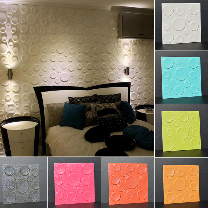 Us 2 59 30 Off 30 30cm Pe Foam 3d Backdrop Wall Sticker Home Furniture Hall Store Decorative Wallpaper Diy Bubble Mural Wallpaper Stickers In Wall