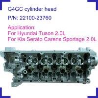 G4GC engine parts bare cylinder head 22100-23760 22100 23760 for Hyundai Tuson Kia Cerato Carens II petrol 2.0L 1975cc