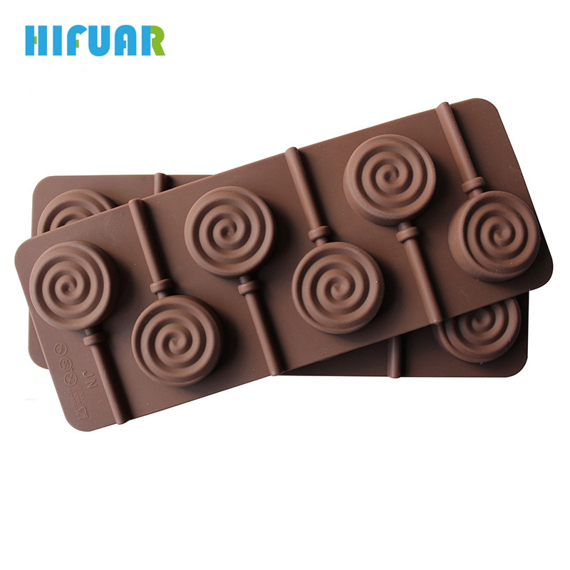 Hifuar New Silicone Donuts Lollipop Mold 6 Lattices In Circles Diy Chocolate Desserts Ice Cube Moulds Comes With Lollipops Relieving Heat And Thirst. Baking & Pastry Tools