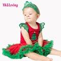 3 pcs newborn natal macacão de bebê sem mangas new bebê roupas de algodão macacão oco tutu saia princesa com hairband a
