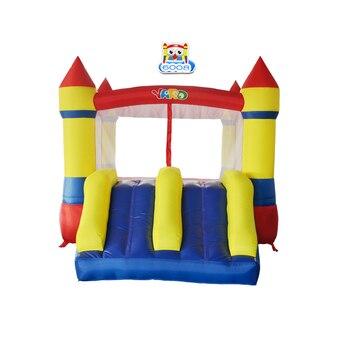 открытый дом отказов   YARD Bounce House двойная горка с воздуходувкой для внутреннего использования на открытом воздухе надувной батут из нейлона ПВХ прыгающий замок дл...