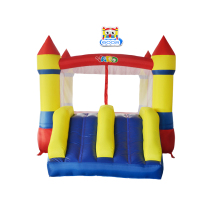 лучшая цена YARD Bounce House Dual Slide with Blower Indoor Outdoor Moonwalk Inflatable Bouncer Nylon PVC Jumping Castle for Kids Toys