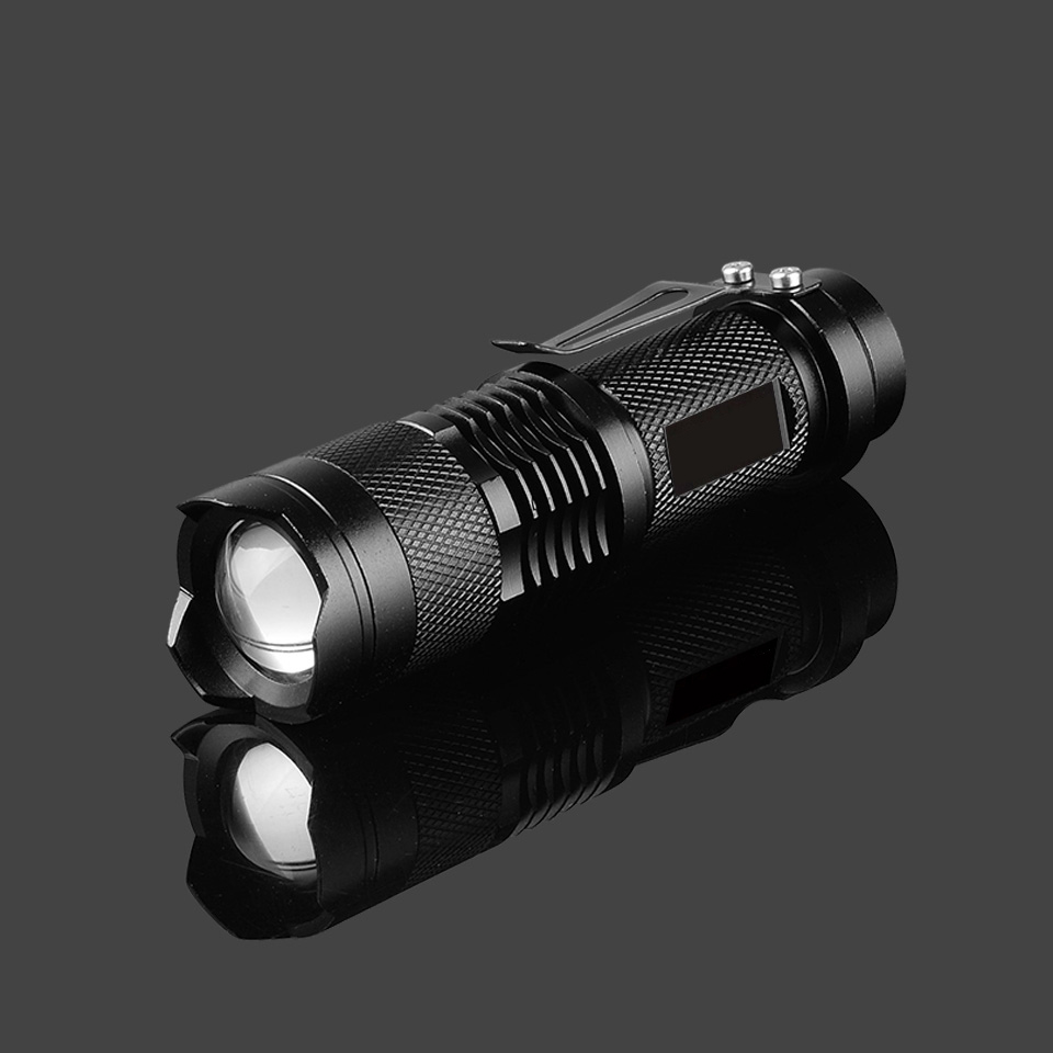 VBS Q5 Zoom Portable Ultra Bright Handheld LED Flashlight AA Mini Powered Tactical Flashlight Outdoor Waterproof Resistant Torch
