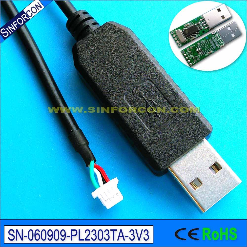 pl2303ta usb uart ttl lejupielādes kabelis win8 win10 ar 4 kontaktu JST SH1.0mm ligzdu