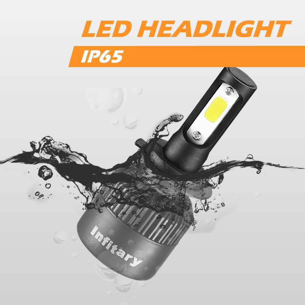 Infitary H7 LED Car Headlight COB LED H4 H1 H3 H11 H13 9004 9005 9006 9007 HB4 72W 8000LM 6500K Automobiles Front Fog Light Bulb