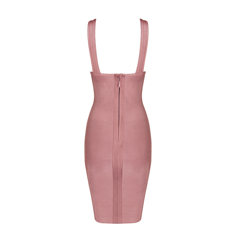 keyhole wholesale pink rayon women top quality sexy women bandage dress   1