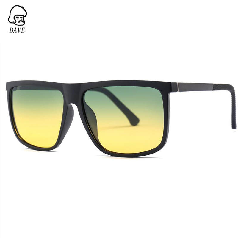 DAVE Day and Night Driver's Mirror Polarized Sunglasses TR90 Frame Aluminum Magnesium Mirror Leg Discolored Night Vision Glasses