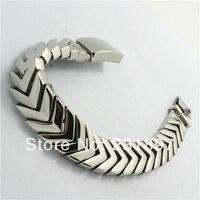 Hot Amazing Arrow Design Shiny Silver Tone Mens Bracelet Polishing Solid 316L Stainless Steel Bangle Biker Jewelery