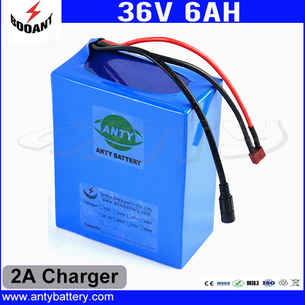 36V 6Ah eBike Battery Built-in 15A BMS For 450W Motor With 2A Charger Lithium Rechargeable Battery Pack 36V Free Shipping battery 48v 14 5ah 1000w for panasonic cell lithium battery 48v with 2a charger built in 30a bms ebike battery 48v free shipping