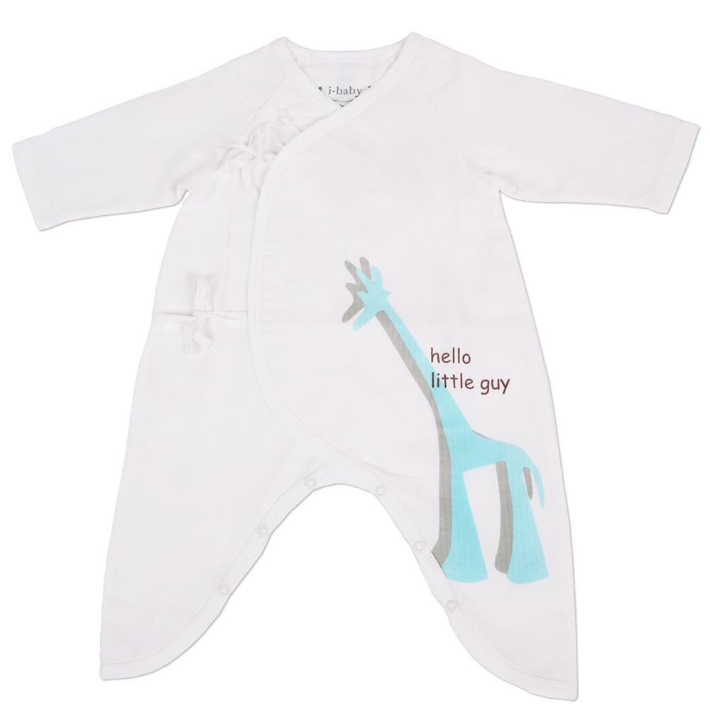 i-baby Baby Romper Newborn Clothes Animal Rompers 100% Cotton Gauze Muslin Long Sleeve Romper Jumpsuits Clothing Sol 2pcs set newborn floral baby girl clothes 2017 summer sleeveless cotton ruffles romper baby bodysuit headband outfits sunsuit
