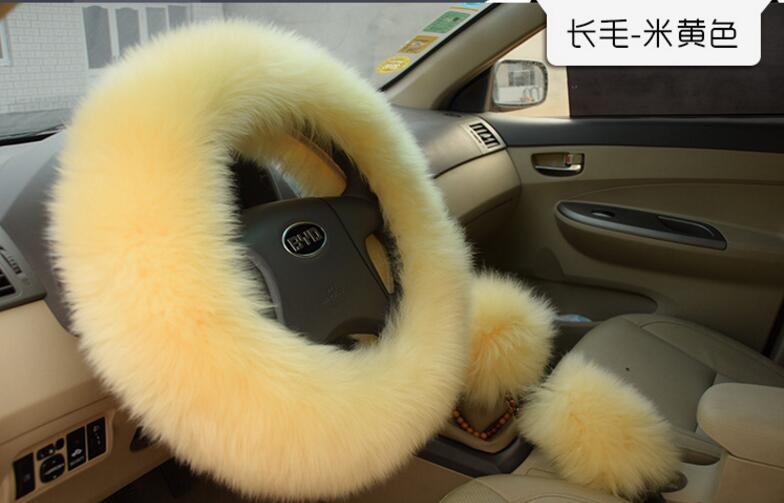 Faux Rabbit Fur Steering Wheel Cover, Cute Warm Plush Steering Wheel Cover, High Quality Faux Fur Steering Cover FFWC01