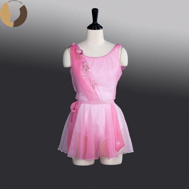 0d078d5a209ab4 Fltoture AT1274 Ballet Prestaties AMor Kostuums Meisjes Roze Kleur Rok  Vrouw Lycra Lichamen Chiffon Rokken Cupido