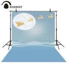 Винил allenjoy фон для фотосъемки Зимний снег полная луна Снежинка Санта фон новорожденный Оригинальный дизайн для фотостудии