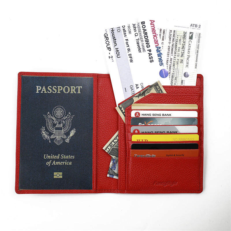 ФОТО Fancystyle Bifold Rfid Blocking Passport Holder Identity Safe Cards Cover Wallet Made of Full Grain Geniune Leather