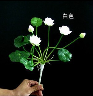 10pcs/lot Free shipping  fashion 11head  water lily lotus artificial flower house decoration wholesale