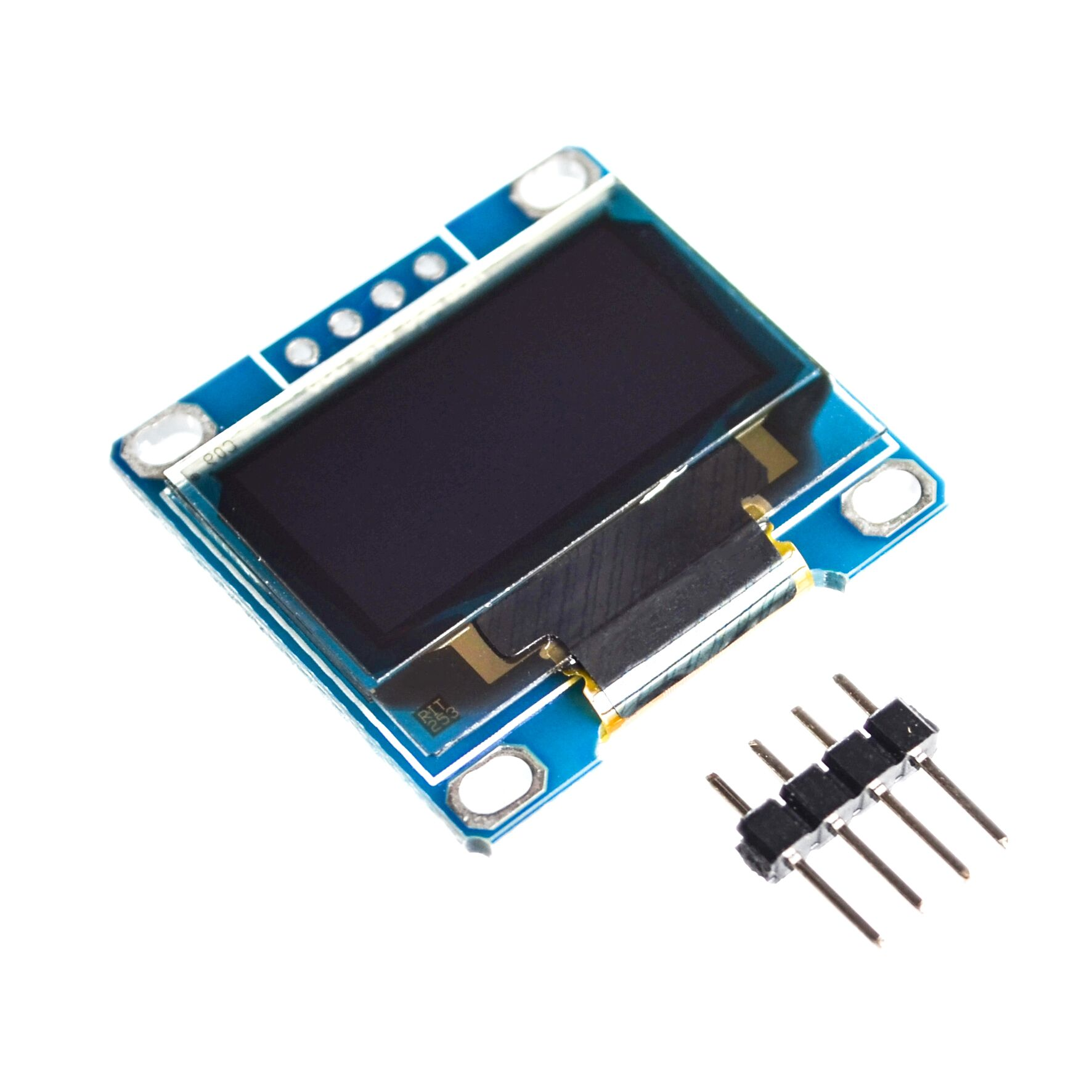 10pcs/lot White Blue color 128X64 OLED LCD LED Display Module For Arduino 0.96 I2C IIC Serial new original with CaseI