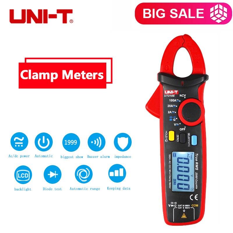 Vrai RMS UNI-T UT210E Multimètre AC/DC Current Clamp Mètres Capacité Testeur UT210A Numérique DC Multimètres à Pince Pince UT210E