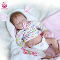 UCanaan22 inches 50-55cm 100% Safe Silicone Vinyl Reborn Baby Closed the Eyes The best Christmas Present/Gift For Children