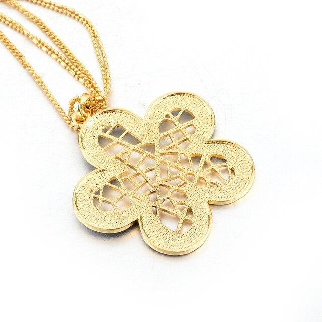 chicvie ожерелья и подвески золотого цвета в стиле ретро с цветами фотография