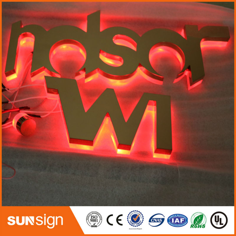 Custom RGB Led Backlit Illuminated Letters Font