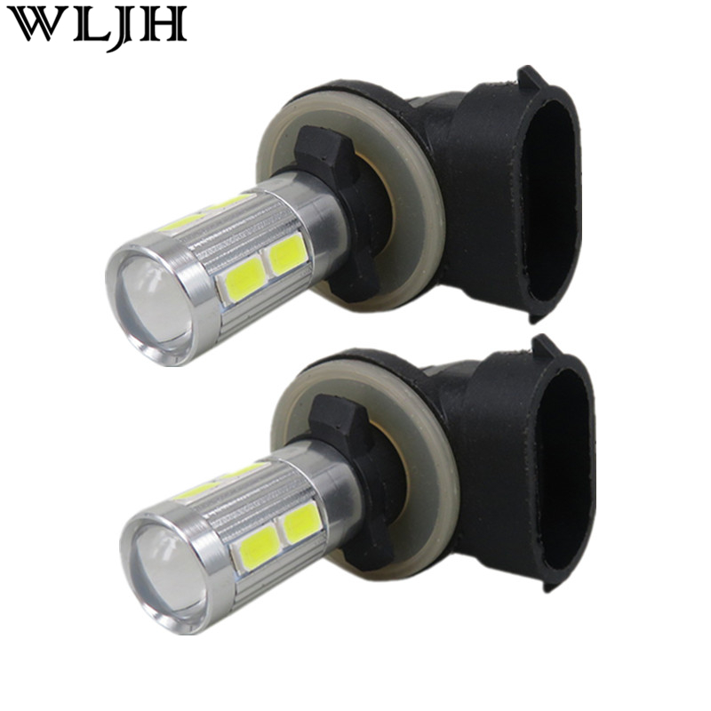 WLJH 2pcs 881 LED Chips 5630 SMD + Cree XBD Led Chips High Power 894 888 Car LED Lamp Bulb Lighting Fog Driving Light for Kia 2x 2 5 3 5 inch with cree led chips car fog light lamp drl driving bulb for ford nissan honda mitsubishi toyota lexus suzuki
