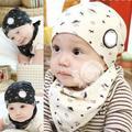 Baby Kid Bandana Bibs+Hat Boy Girl Saliva Towel Head Scarf 2 Colors