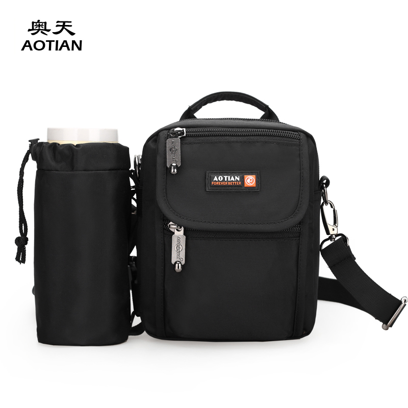 569745536b960 Aotian fashion nylon solid plain small cross body men s messenger bag with  Bottle bags boys waistpacks classic casual flaps