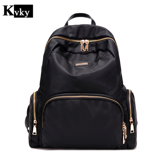 cdac8593c299 2017 Fashion Women waterproof oxford backpack Famous Designers Brand  shoulder bag leisure backpack for girl and college Student