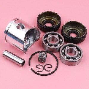 Image 5 - Anillo de perno de pistón de 38mm, Kit de sello de aceite de rodamiento de agujas para piezas de motosierra Husqvarna 136 137