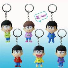 New Osomatsu-san Figure Matsuno Ichimatsu Hoody PVC Action Figure Collectible Brinquedos Kids Toys Juguetes 6cm 6PCS/LOT