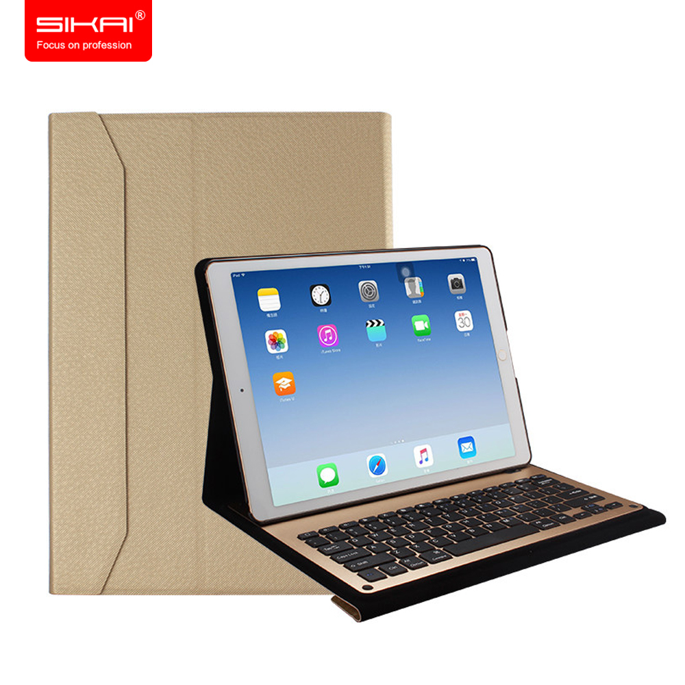 SIKAI Stand PU Leather Case For iPad Pro 9.7 Case Tablet Protective Pouch For iPad Pro 12.9 Case + Keyboard Cover For iPad Pro