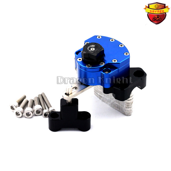 For HONDA HORNET CB600F 2007-2013 Blue Motorcycle Reversed Safety Adjustable Steering Damper Stabilizer with Mount Bracket